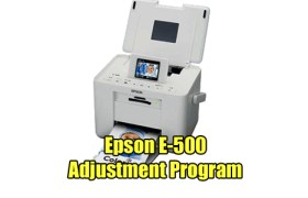 Epson E-500 Adjustment Program