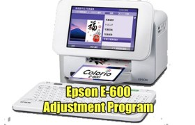 Epson E-600 Adjustment Program