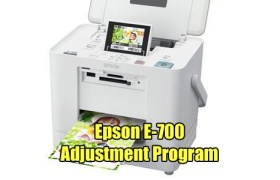 Epson E-700 Adjustment Program