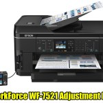 Epson WorkForce WF-7521 Adjustment Program