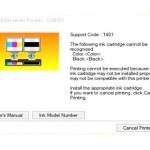 How to reset/ fix ink cartridges is not recognized in canon pixma E400
