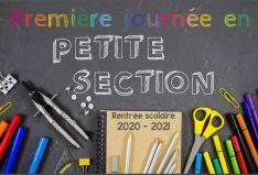 panneaux affiches premier jour a lecole rentrée scolaire 2020 2021
