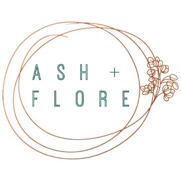 ASH + FLORE (WHITE BACKGROUND LOGO)