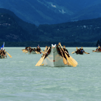 We are all in the same canoe: Dave Steers' photo captures the power of Pulling Together