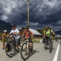 Stormy sky over last Sunday's Slow Food Cycle, caught by Dave Steers who always seems to be the eye in the storm