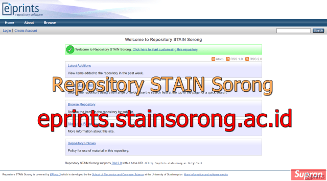 Repository eprints STAIN Sorong