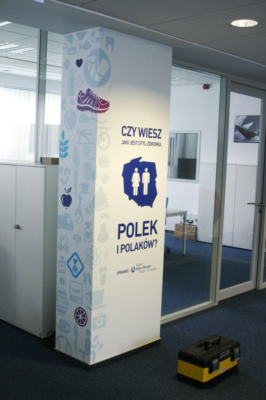 printing of self-adhesive wallpapers for companies and offices