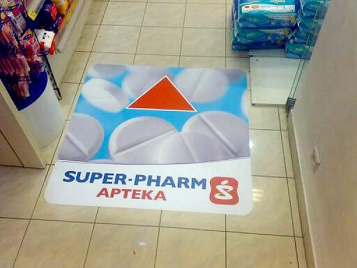 printing of floor sticker with anti-slip laminate