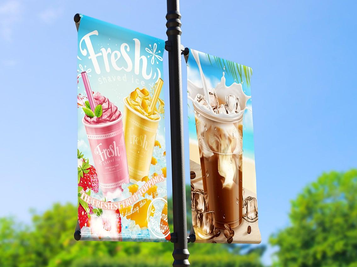 reklama na lampy i słupy uliczne