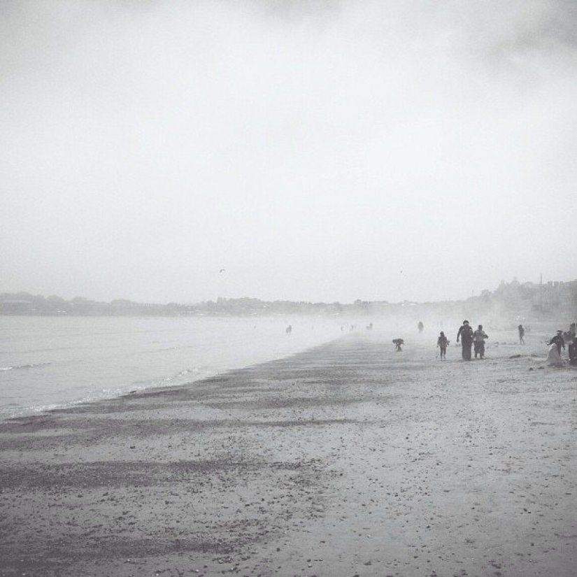 Beach fog. Feels a little odd.