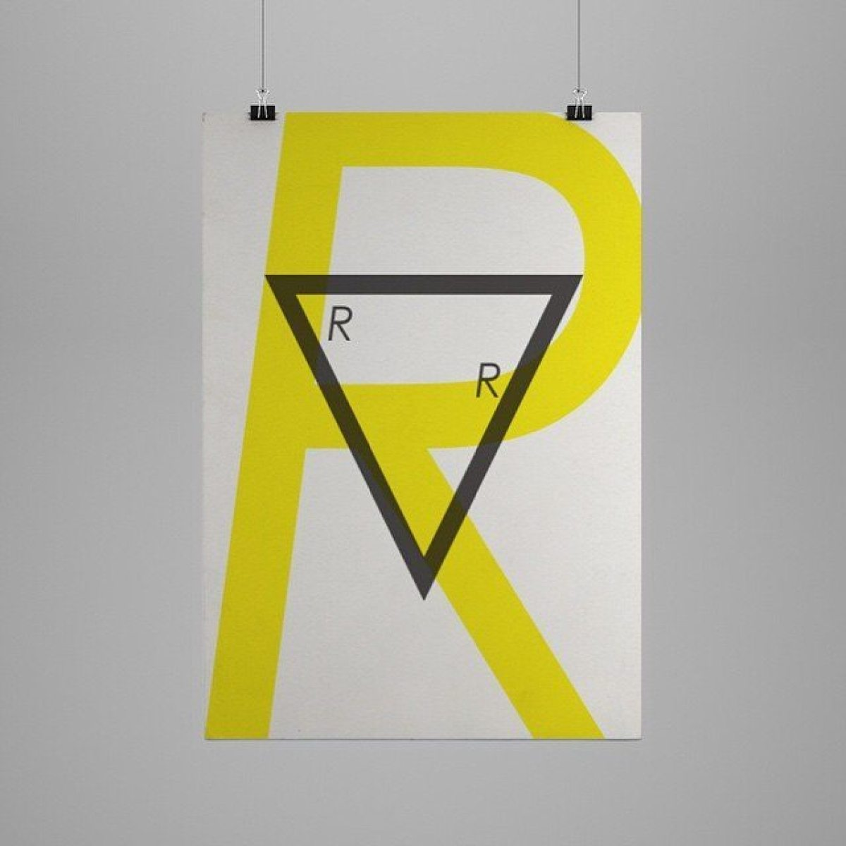Skatepark poster series. The Front Skatepark - Ramp Room #graphic #graphicdesign #graphicdesignagency #type #typeface #typography #poster #yellow