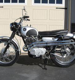 1966 honda cl77 cl 77 cl72 cl450 scrambler small brake example  [ 1024 x 768 Pixel ]