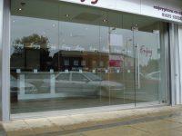 Frameless Glass Shop Fronts Doors | Toughened Glass Shop ...