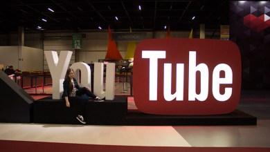 estande do youtube brasil game show logo gigante