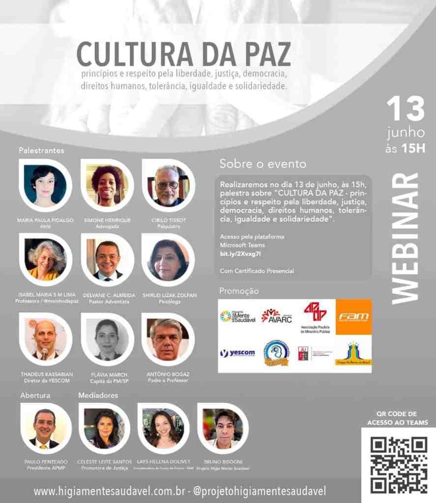 Projeto Higia Debate Liberdade, Justiça e Democracia em Webinar 2