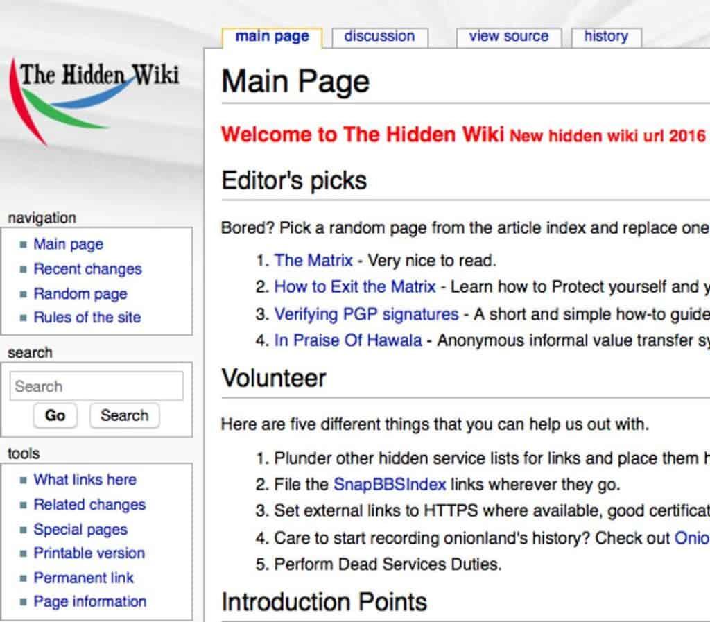 depois de aprender Como acessar a Dark Web veja a hidden wiki