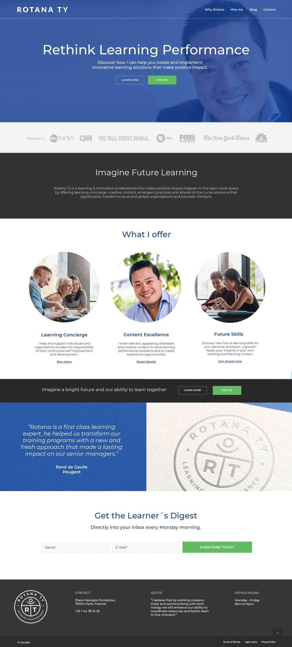 supro portfolio rotana ty website homepage