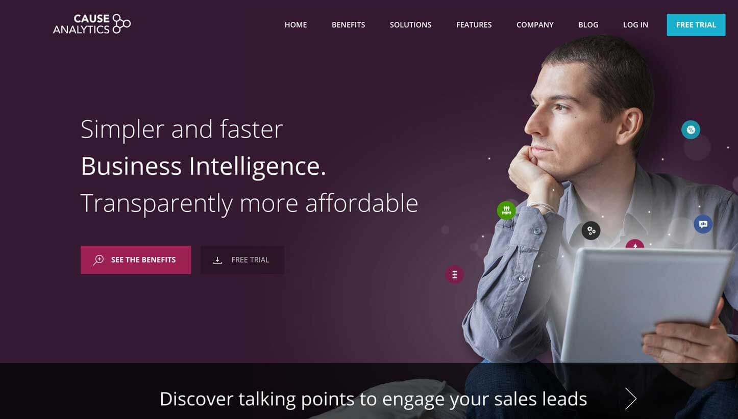 supro projects cause analytics website screenshot