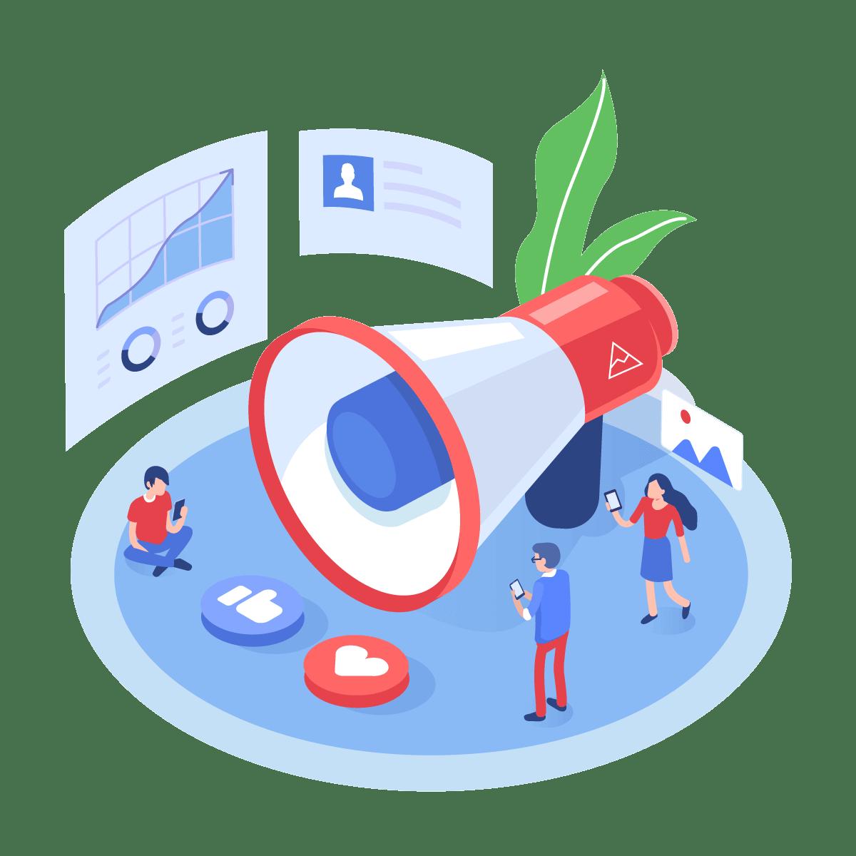 supro social media strategy illustration