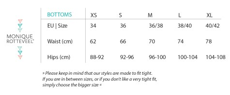 Bottoms Size Guide