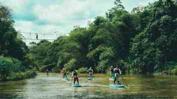 Stand Up Paddling River Adventure in Sri Lanka.