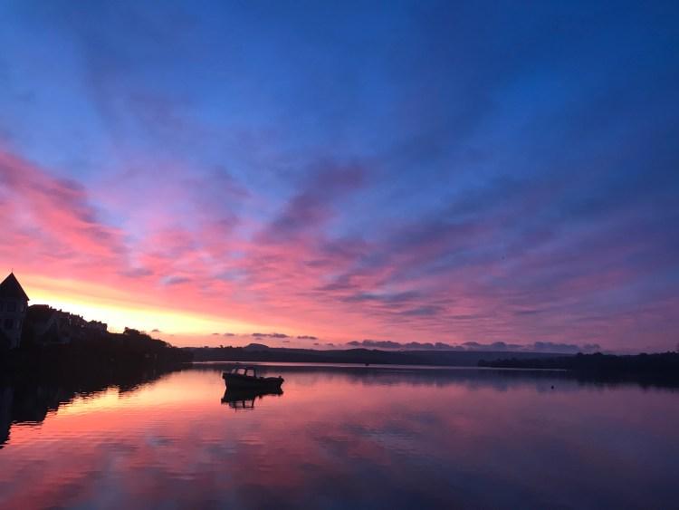 SUP Salcombe Estuary at dawn