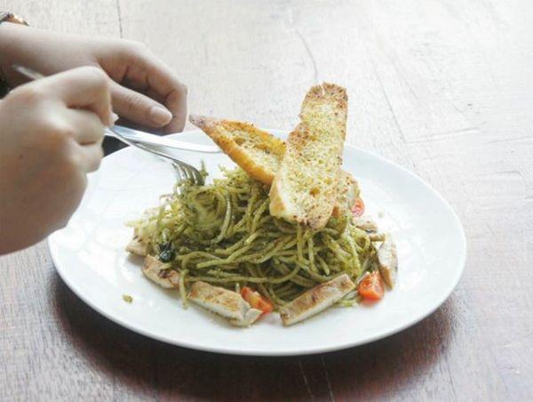 Caturra Espresso Chicken Pesto Spaghetti