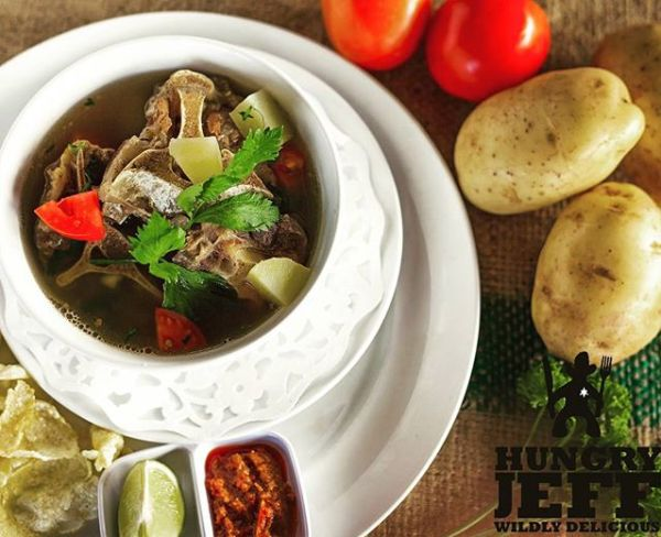 Hungry Jeff buffalo oxtail soup