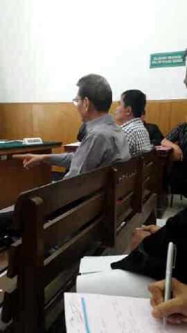 Sidang dugaan penyerobotan tanah dengan terdakwa Soetijono di PN Surabaya