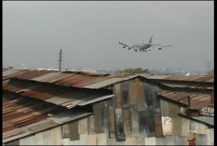 Airplane Descending Over Jari Mari