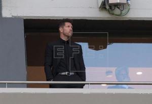 El entrenador del Atletico de Madrid, Diego Pablo Simeone