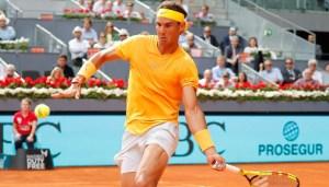 El tenista español Rafael Nadal en el Tenis de Madrid, España.