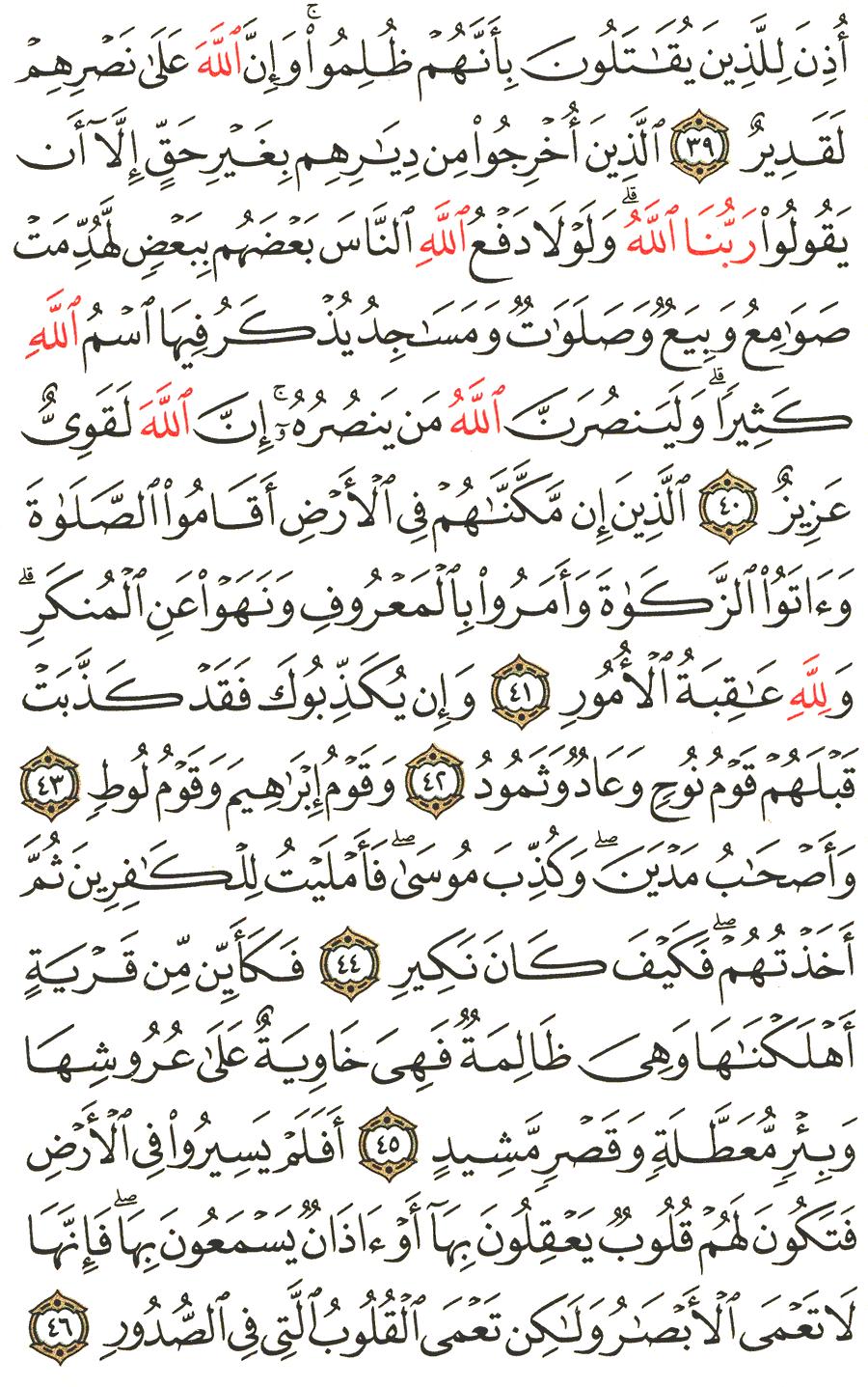 An Najm 39 : Surah, Al-Hajj, English, Translation, Meaning