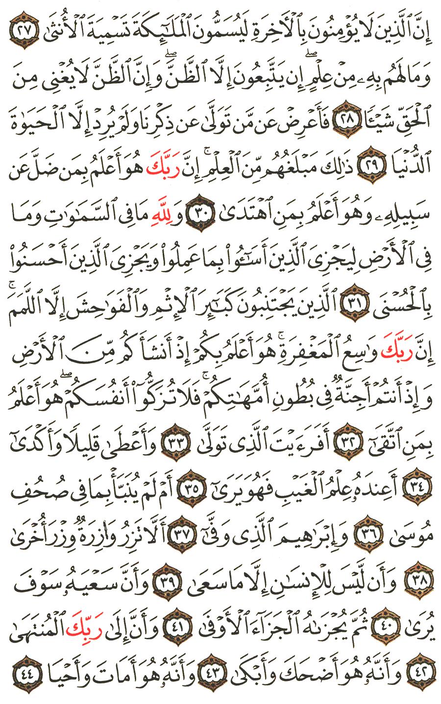 An Najm 39 : Surah, An-Najm, English, Translation, Meaning