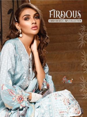 SHREE FAB FIRDOUS EMBROIDERED LAWN COLLECTION COTTON DUPATTA