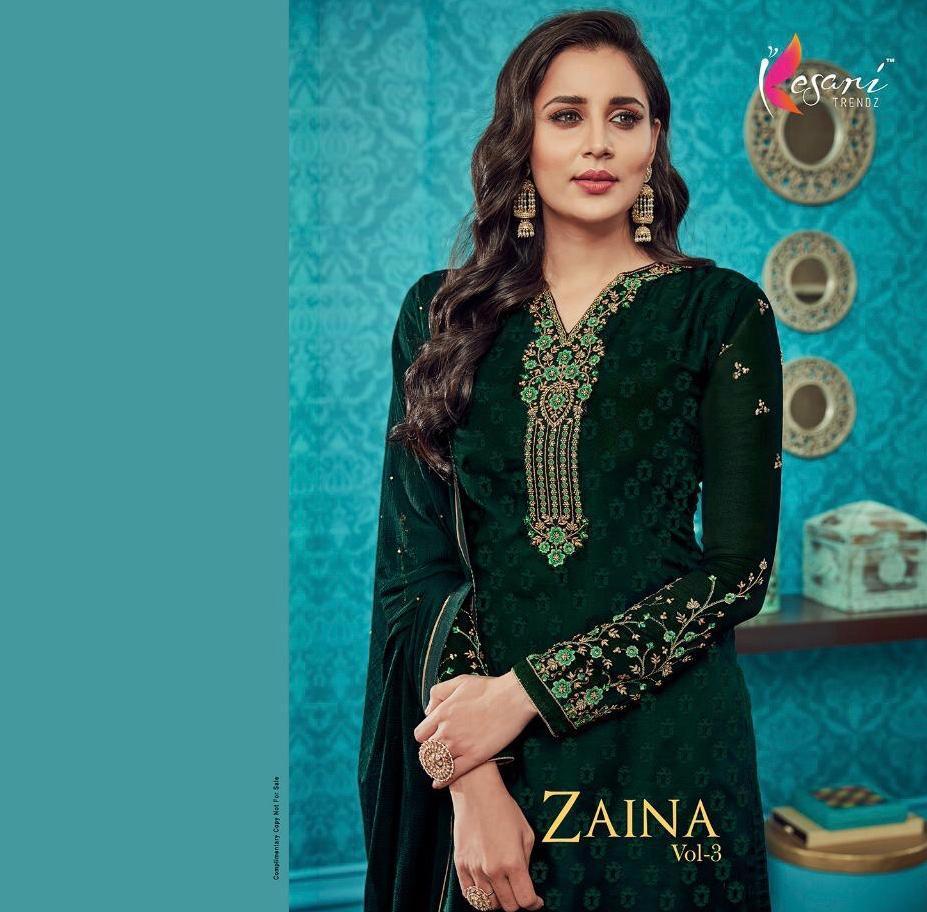 3dbeabad0e Kesari trendz Presents zaina vol-3 designer megical Brasso Straight salesr  suits Wholesaler