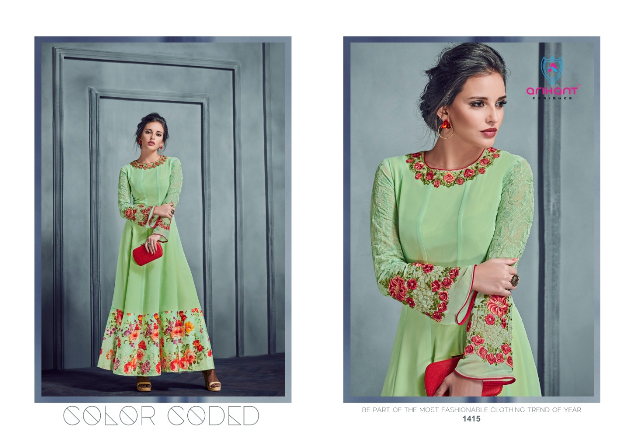 032a8219cd DOWNLOAD ZIP · DOWNLOAD PDF Arihant designer silky vol 2 exclusive party  wear gown style kurti concept