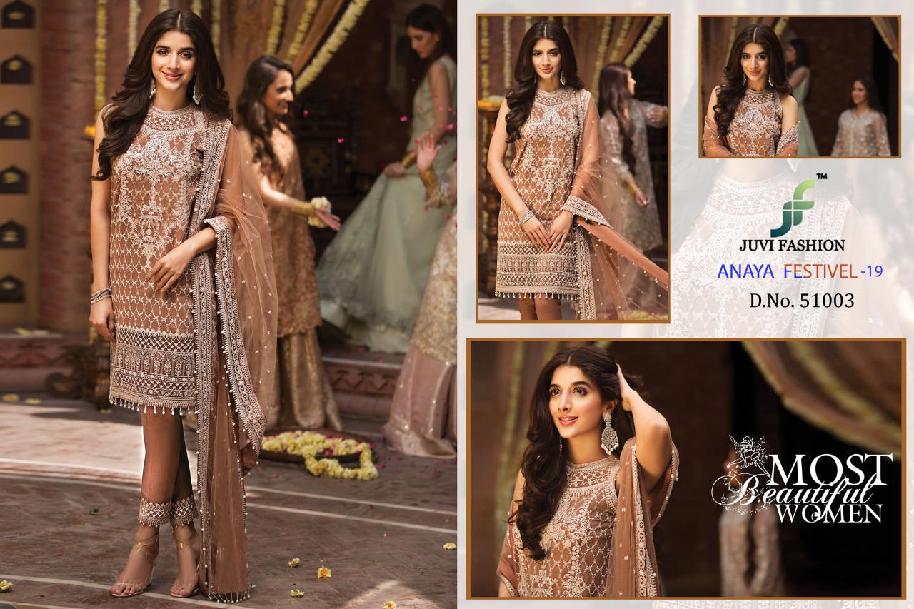 28163c25b3 Juvi fashion presents anaya festival 19 lucknavi work georgette pakistani  salwar kameez Wholesaler. DOWNLOAD ZIP
