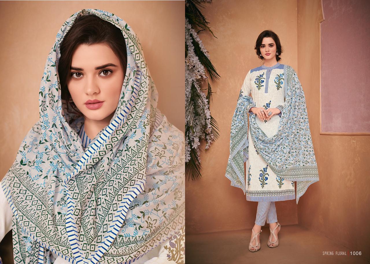 37657d01e0 Mumtaz arts presents spring floral karachi lawn printed salwar kameez  collection