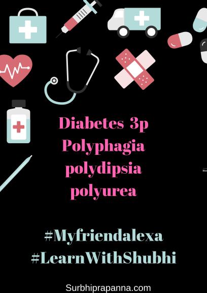 Diabetes 3P Polyurea, Polydipsia, Polyphagia