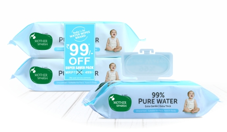 Mothersparsh 99% unscented premium baby wipes