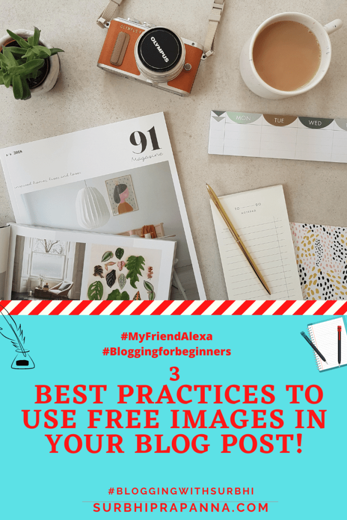 Best practices to use free images for blog posts!
