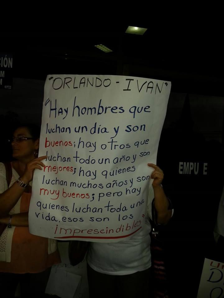 Realizan actividades solicitando la libertad para Orlando Barrantes11