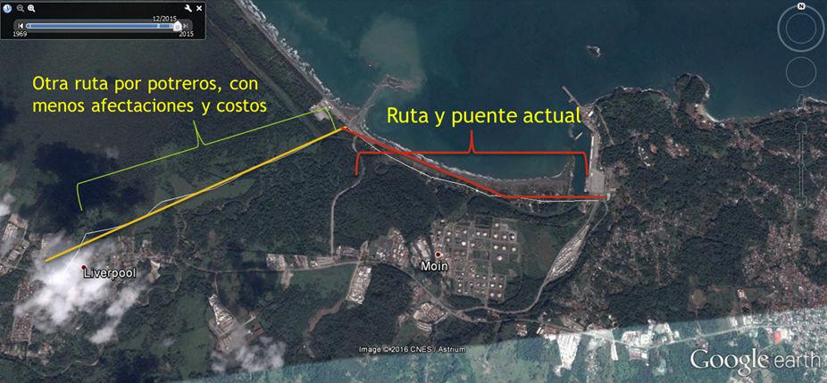 Ruta destruye hectareas de Humedal Cariari en Moin2
