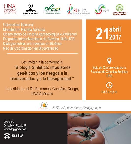 Invitacion conversatorios temas transgenicos y biologia sintetica