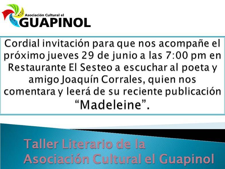 Taller Literario Asociacion Cultural El Guapinol