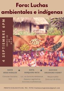 Foro luchas ambientales e indigenas