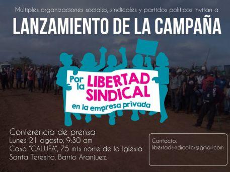 Lanzamiento Campana por la Libertad Sindical en la Empresa Privada