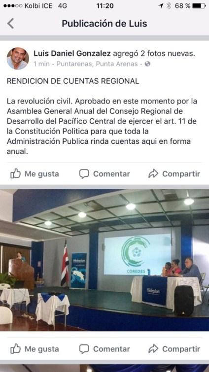Territorios Seguros rendicion de cuentas en Puntarenas