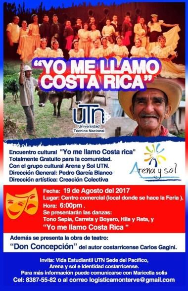 UTN encuentro cultural Yo me llamo Costa Rica